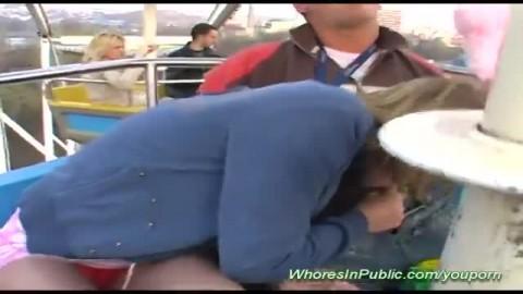 jeune salope baise en public