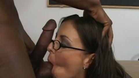 Brunette teacher seduced by black cock .flv