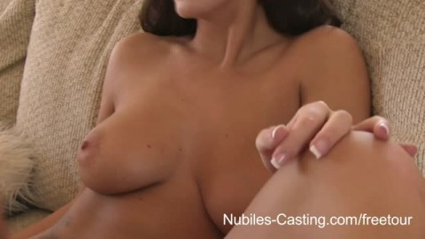 Nubiles Casting – Porn tryouts for busty babe ends with gooey facial