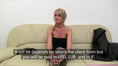 Amatrice coquine pour un casting porno